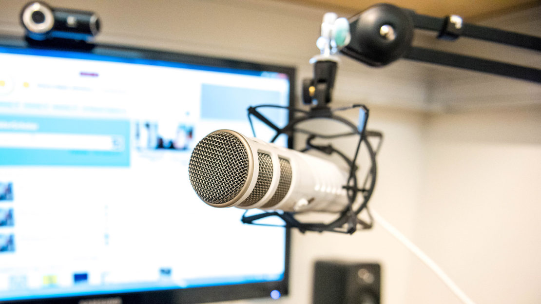 Mikrofon och webbkamera användes för att dokumentera användartesterna. Foto: Stina Loman