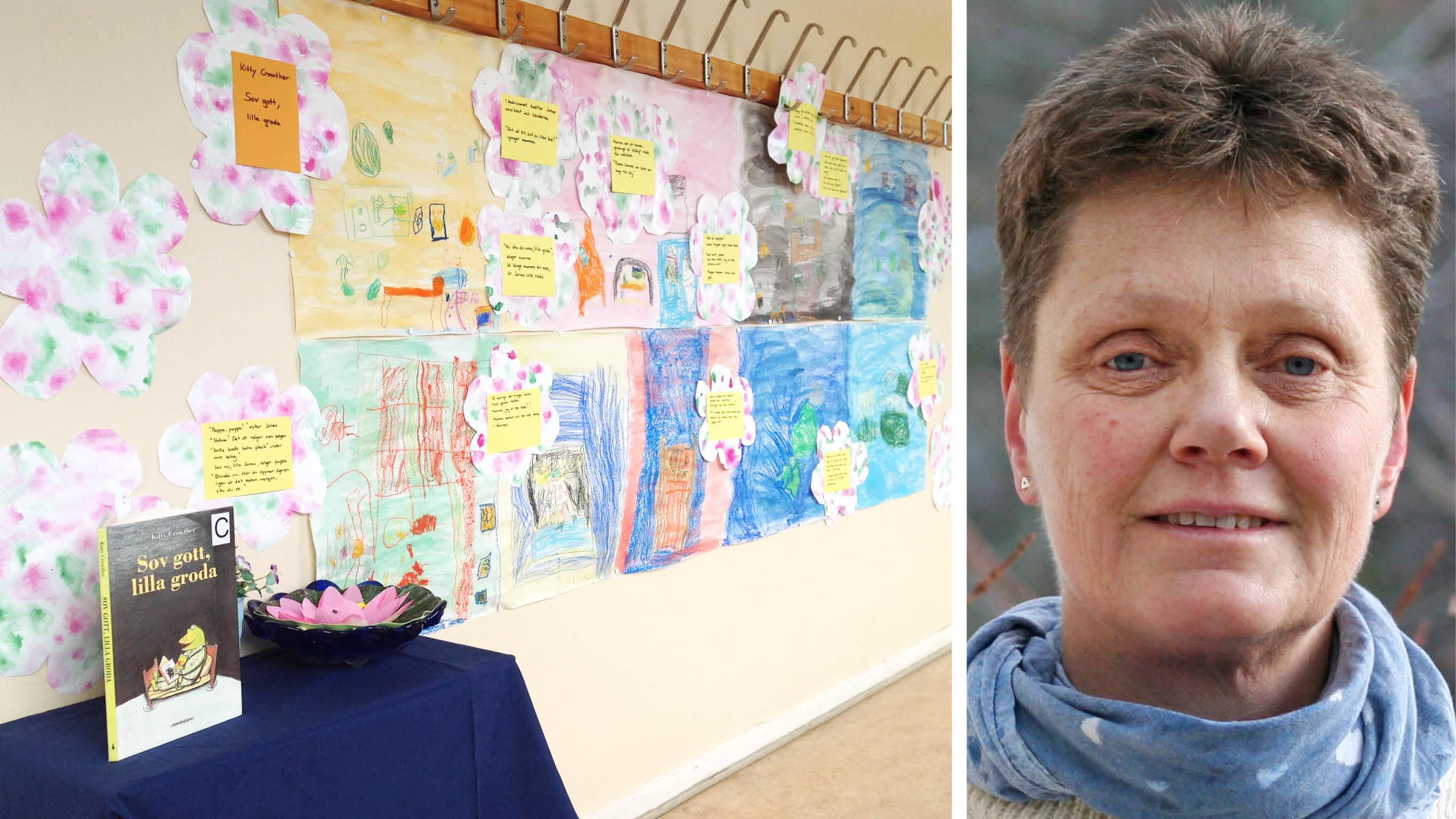 Cilla Dalén, skolbibliotekarie på Hjulsta grundskola i Stockholm, har tagit initiativ till litteratureventet. Foto: Privat