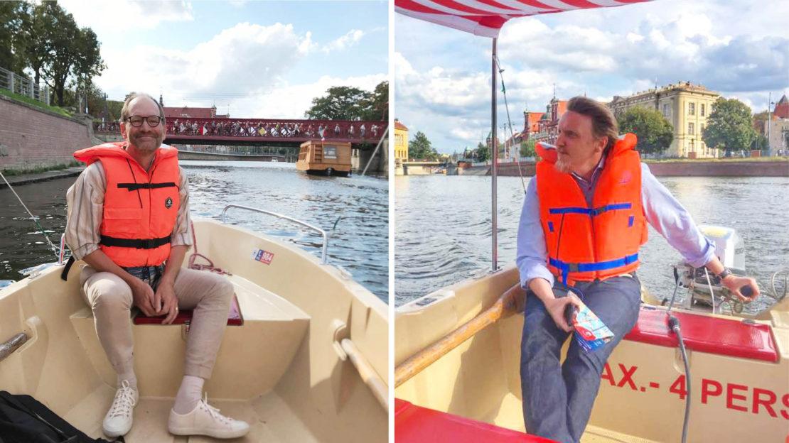 Lars Ilshammar och Peter Krantz ute på Oder. Foto: Privat