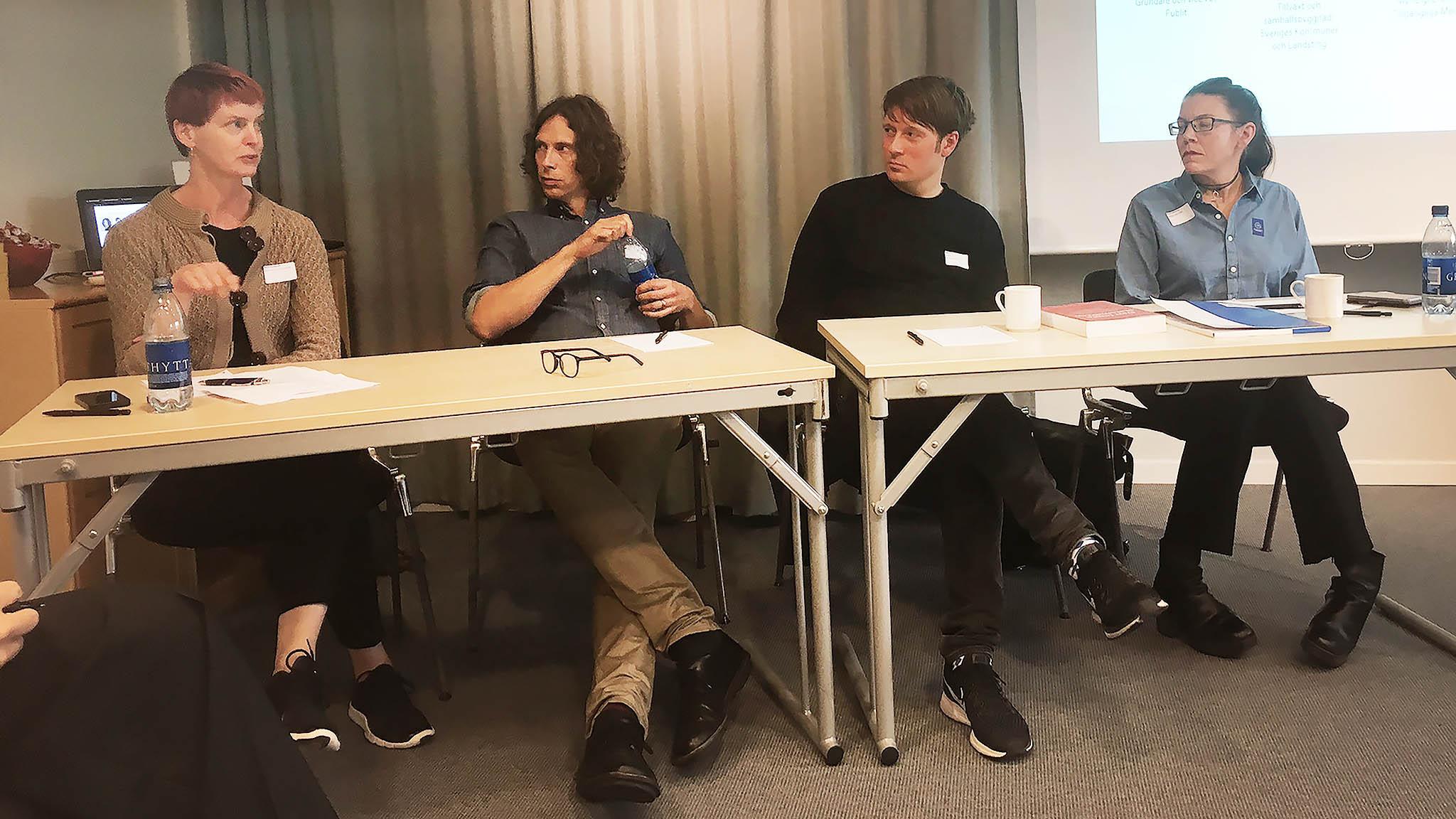 Maria Jacobsson SKL, Per Helin, Publit, Jesper Klein, Miriam Säfrström, KB. Foto: Thord Eriksson