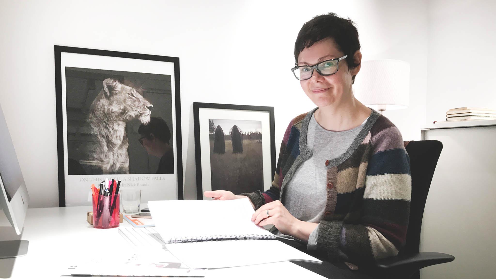 Katarina Wiberg på Svensk biblioteksförening. Foto: Stina Loman