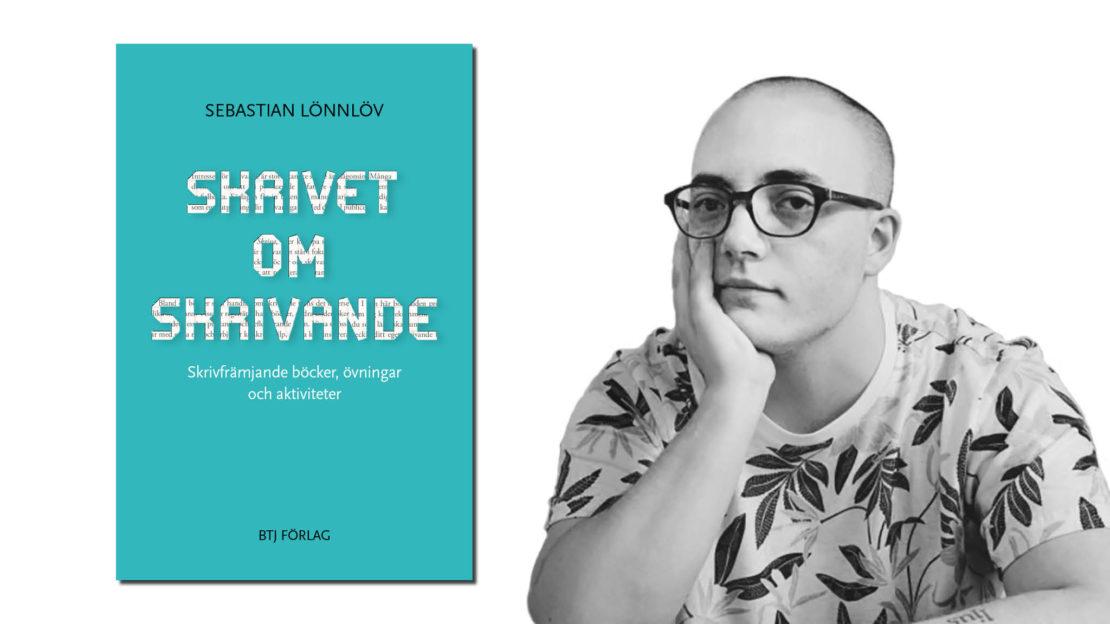 Sebastian Lönnlöv är skolbibliotekarie på Nacka gymnasium. Foto till höger: Vesna Prekopic.