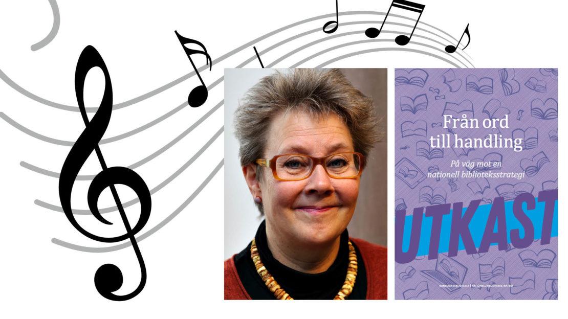 Pia Shekhter är ordförande i Svenska musikbiblioteksföreningen. Foto: Håkan Granath.